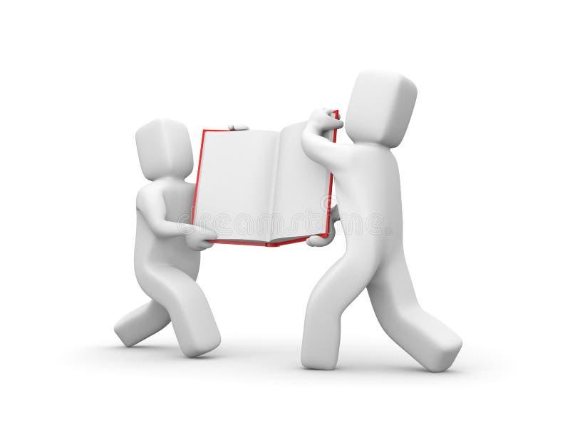 书运载人员配合 向量例证