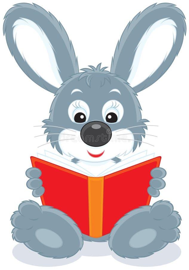 书野兔读取 库存例证