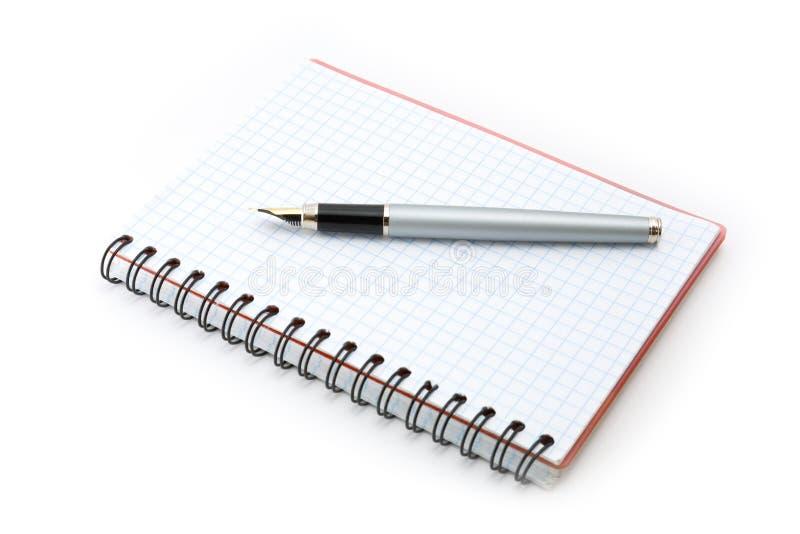 书钢笔文字 免版税库存图片