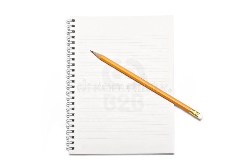 书铅笔文字 免版税图库摄影