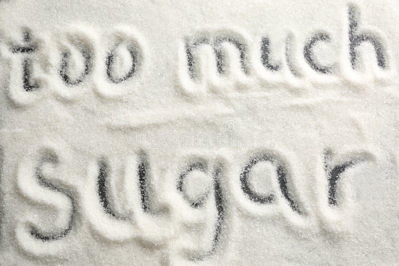 书面文本许多糖 图库摄影