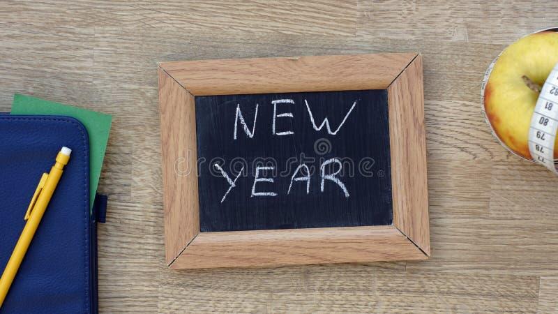 书面的新年 免版税图库摄影