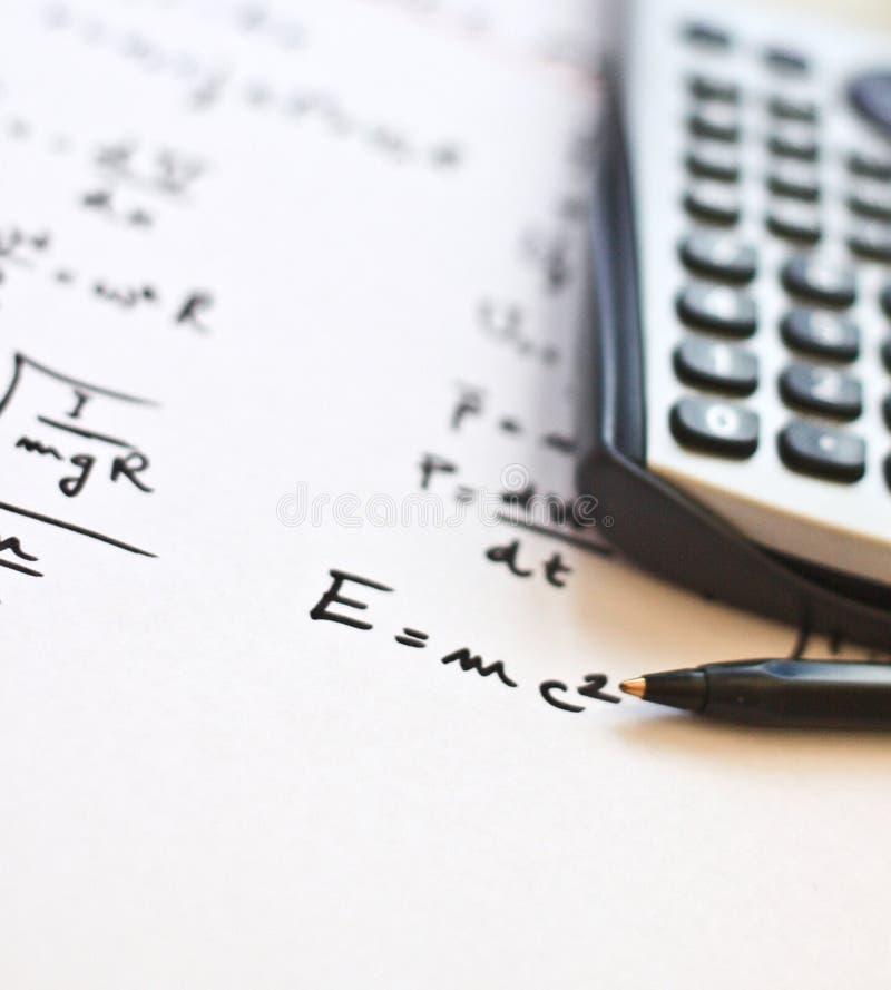 书面的配方纸物理白色 免版税库存照片