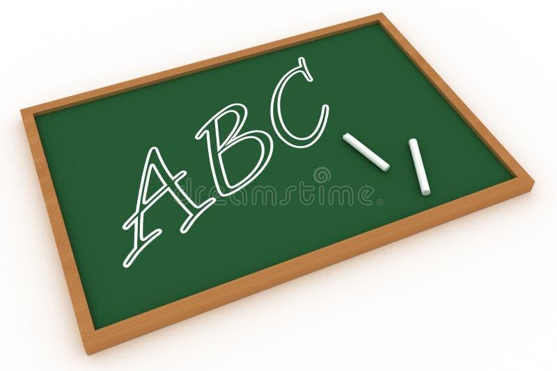 书面的abc黑板 向量例证