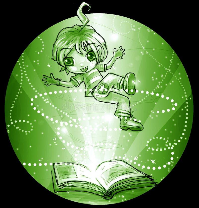 书飞行魔术 皇族释放例证