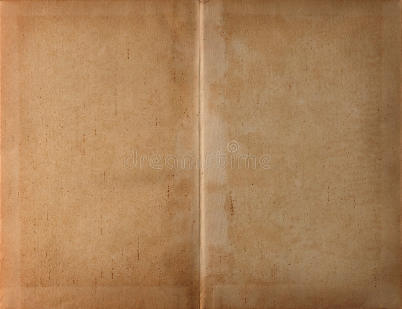 书黑暗的纸张展开了 图库摄影