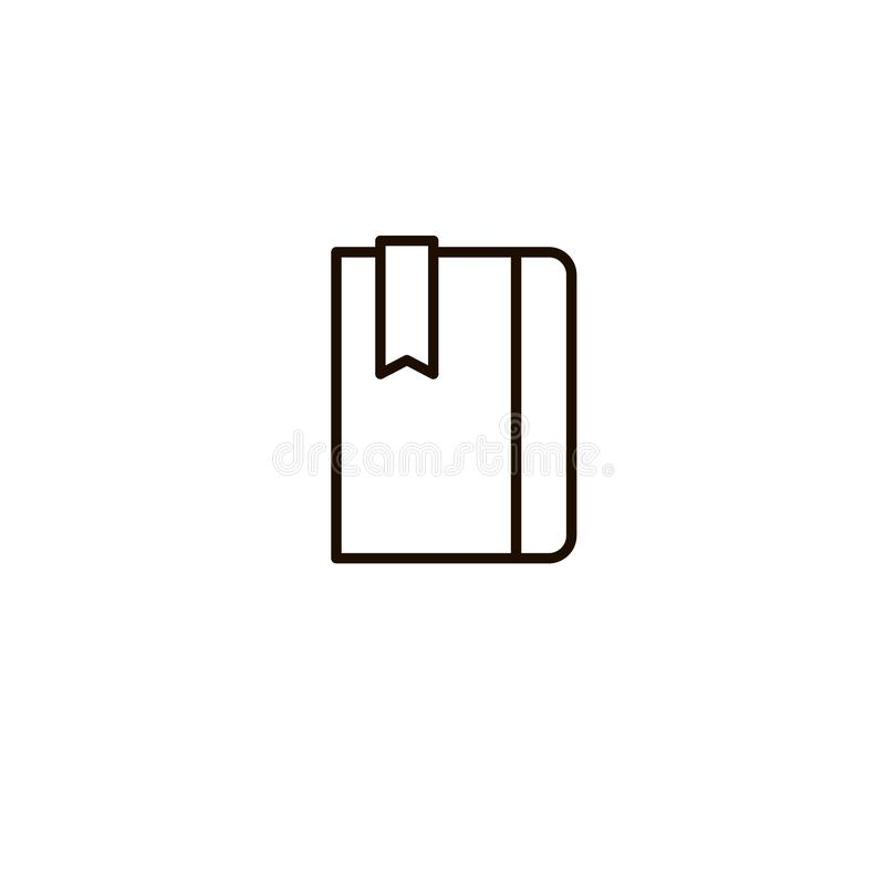 书,笔记本传染媒介象,日志笔记薄标志,最低纲领派稀薄的线概述设计,组织者例证 向量例证