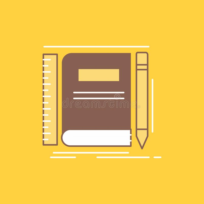 书,笔记本,笔记薄,口袋,速写平的线被填装的象 r 皇族释放例证