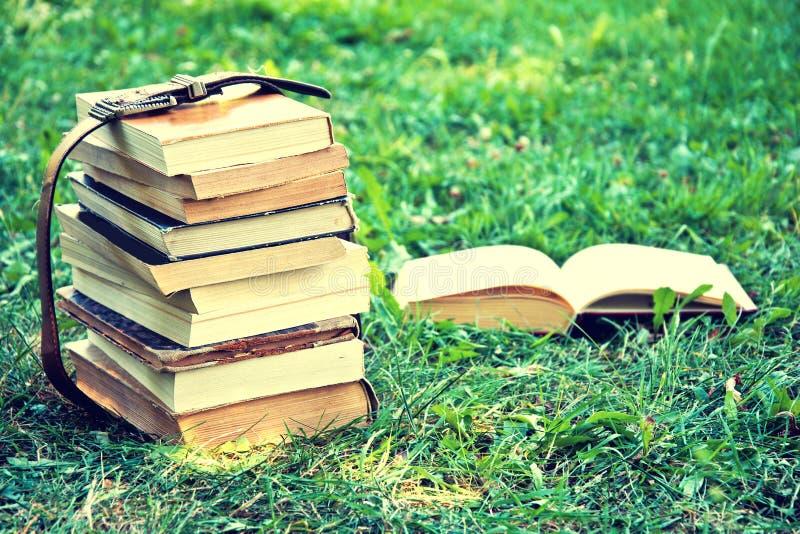 书 回到概念教育学校 免版税库存图片