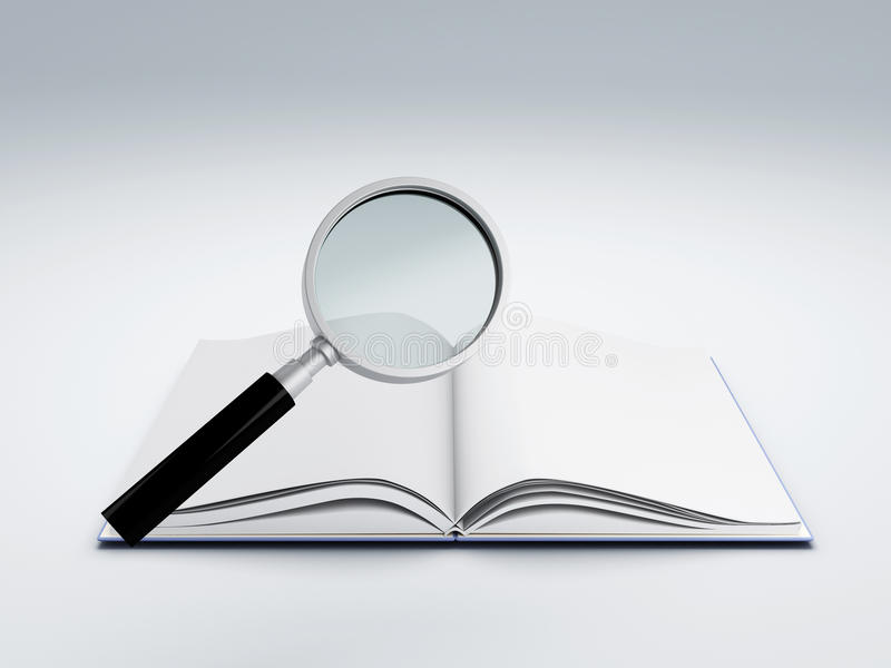 书玻璃扩大化开放 库存例证