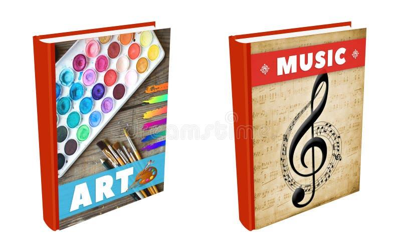 书-艺术和音乐 免版税库存图片