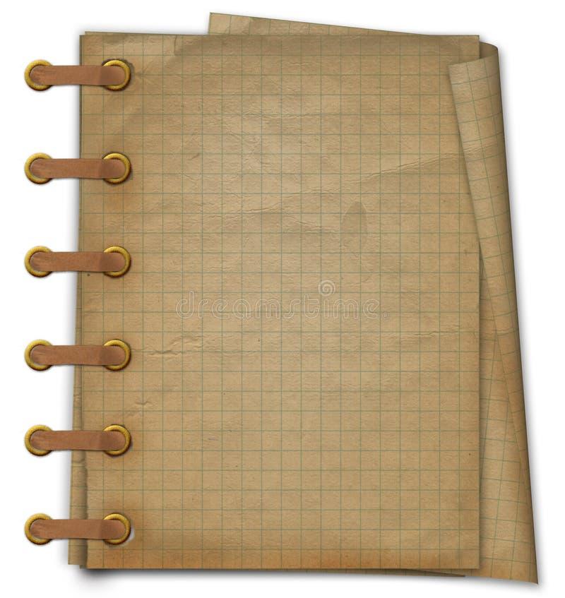 书grunge笔记本部分文字 向量例证