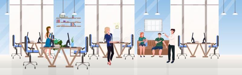 买卖人办公室工作者成功的配合概念勤勉过程露天场所创造性的共同工作的中心 向量例证