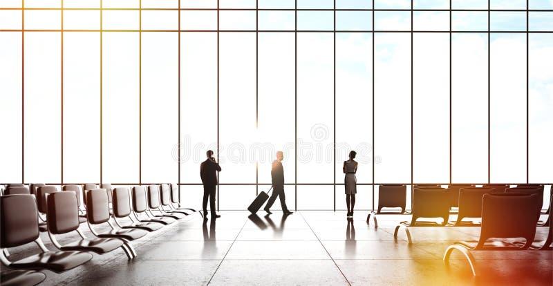 买卖人在机场 免版税库存图片
