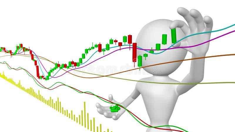 买卖未上市股票经纪人 向量例证
