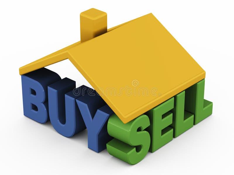 买进卖出家 库存例证