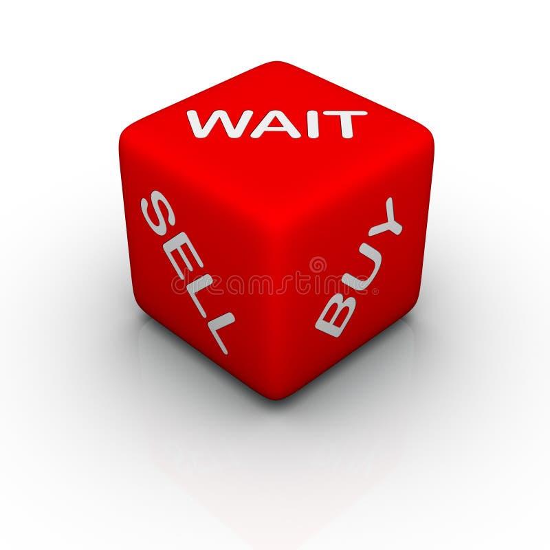 买进卖出等待 向量例证
