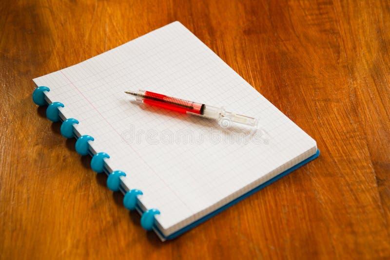 乱写块和圆珠笔 库存图片