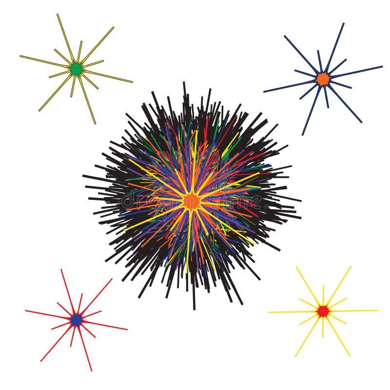 乱画五颜六色的抽象 向量例证