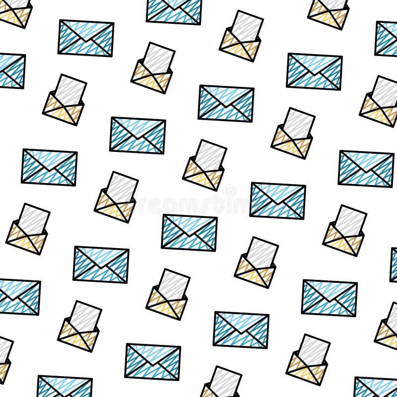 乱画电子邮件通信文件消息背景 皇族释放例证