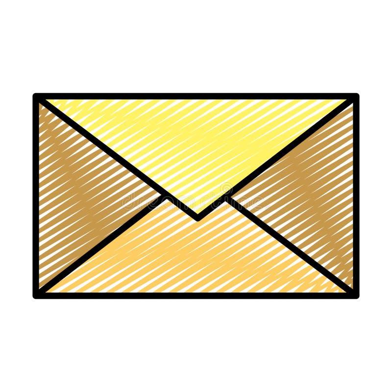乱画电子邮件通信消息技术样式 皇族释放例证