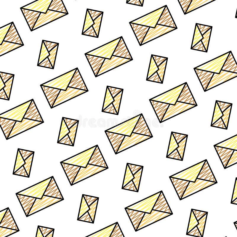 乱画电子邮件通信消息技术背景 库存例证