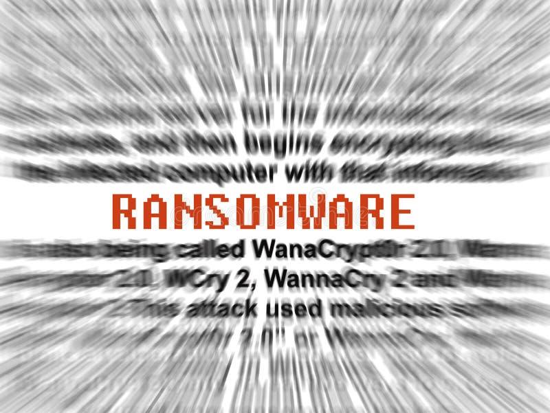 乱砍病毒软件malware的Ransomware 库存例证