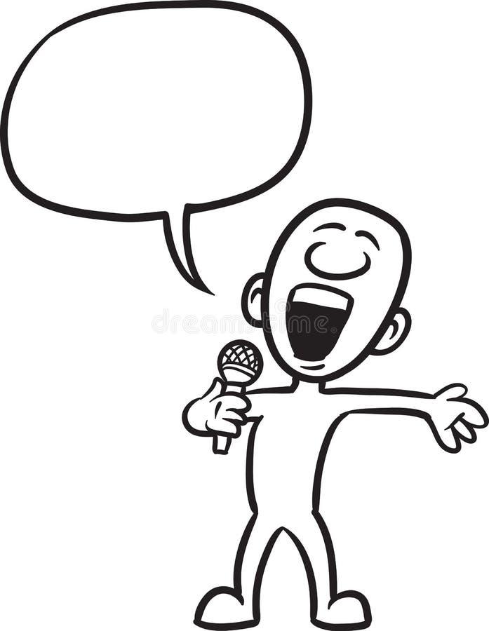乱画小人物-唱歌歌曲 库存例证