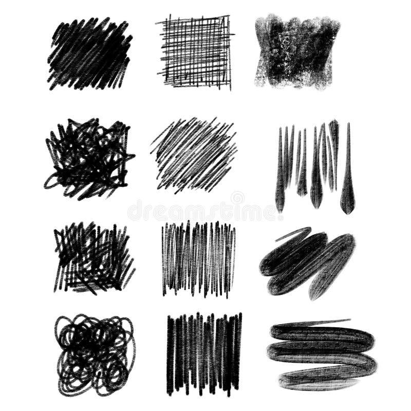乱画抽象手拉 向量例证