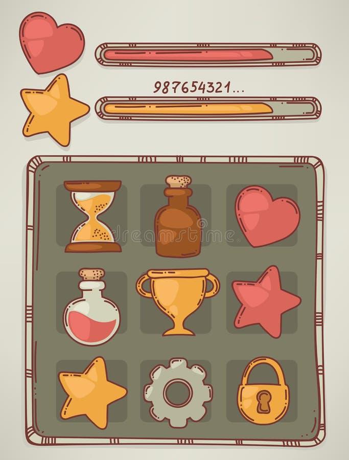 Download 乱画比赛 向量例证. 插画 包括有 货币, 图标, 金子, 逗人喜爱, 星形, 烤肉, 按钮, 魔药, bothy - 62538626