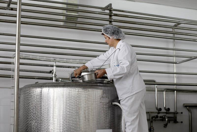 乳制品工厂生产 免版税图库摄影