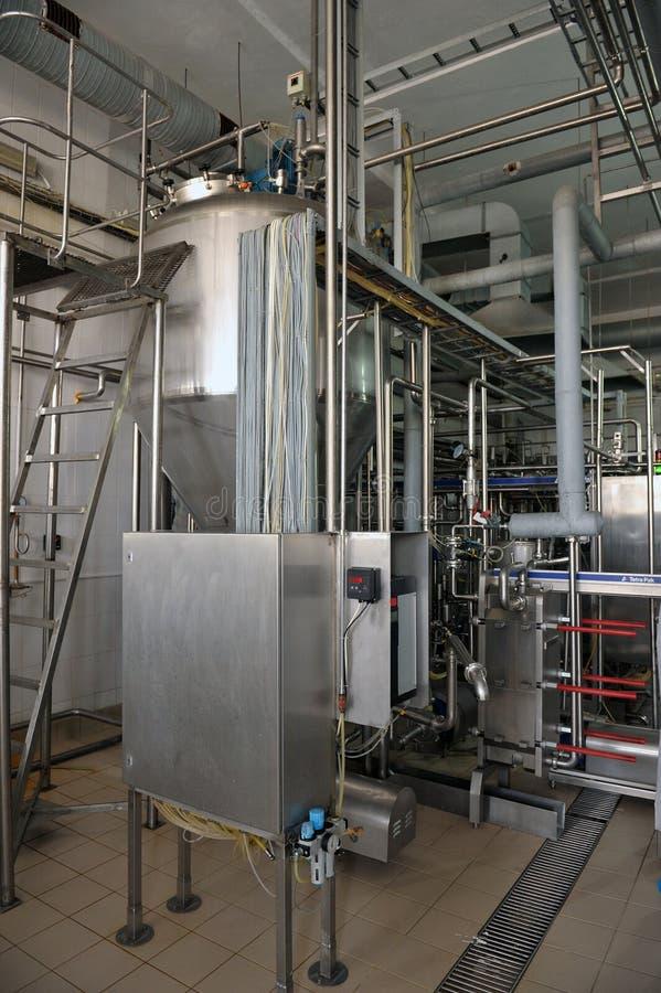 乳品加工业机械 库存照片