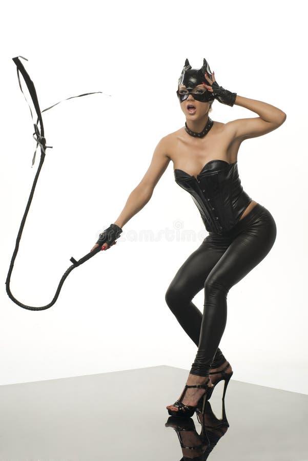 乳汁的性感的妇女 免版税库存图片