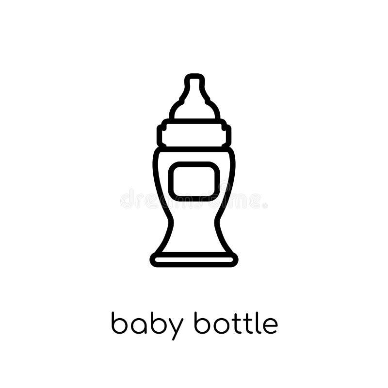 乳瓶象  向量例证