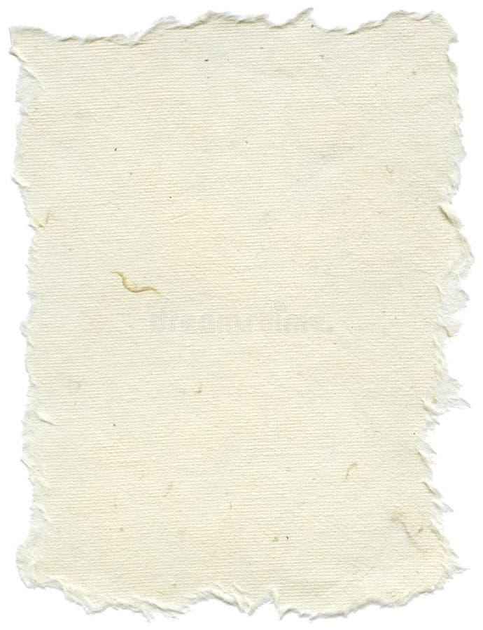 被隔绝的宣纸纹理-奶油色白色  图库摄影