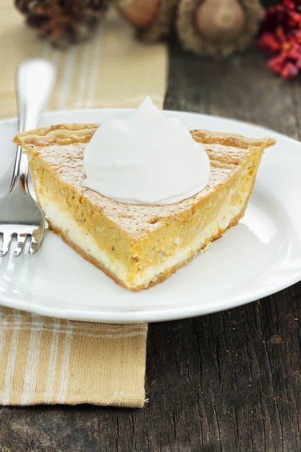 乳脂干酪南瓜饼 图库摄影
