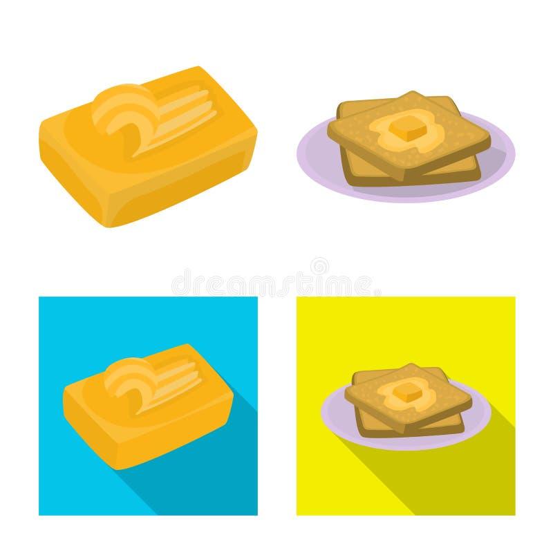 乳脂状和产品标志的传染媒介例证 E 皇族释放例证