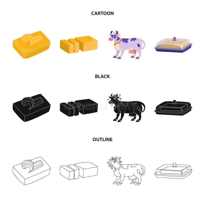 乳脂状和产品标志的传染媒介例证 r 库存例证