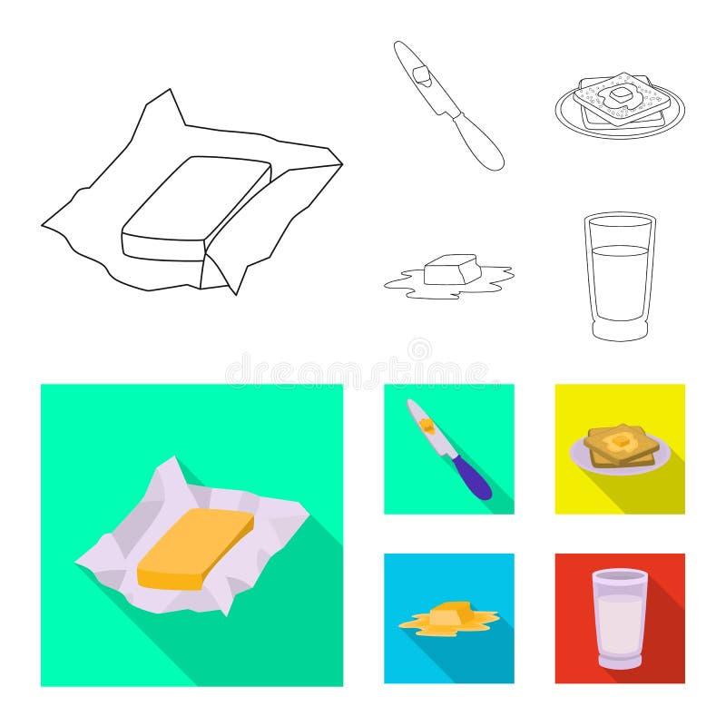乳脂状和产品标志的传染媒介例证 r 皇族释放例证