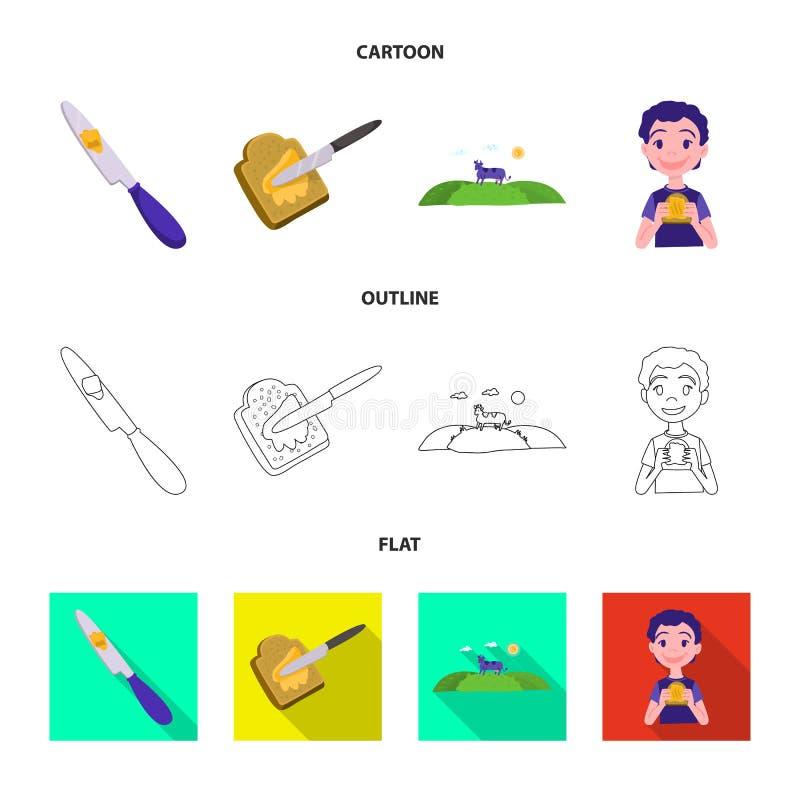 乳脂状和产品标志的传染媒介例证 r 向量例证