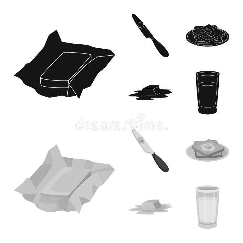 乳脂状和产品标志被隔绝的对象  E 库存例证