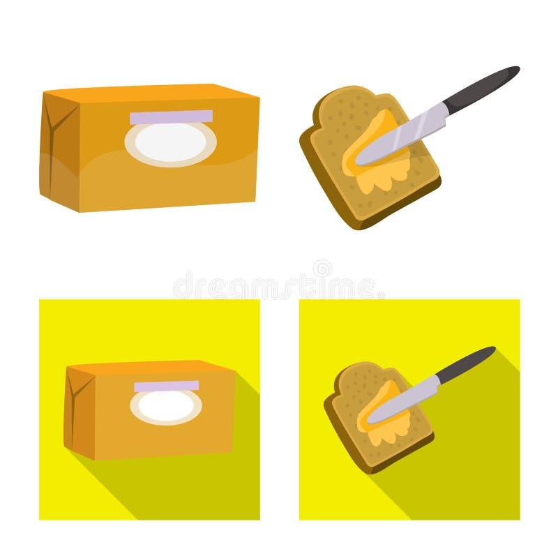 乳脂状和产品标志被隔绝的对象  E 向量例证