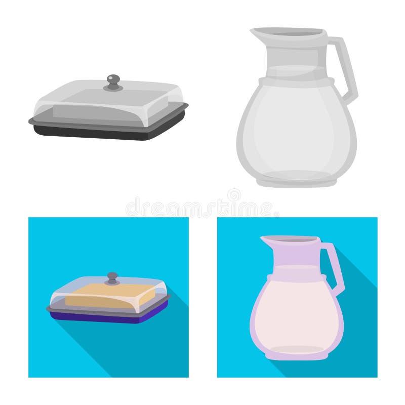 乳脂状和产品标志被隔绝的对象  o 库存例证