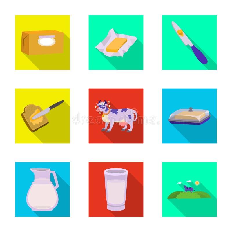 乳脂状和产品标志被隔绝的对象  r 库存例证