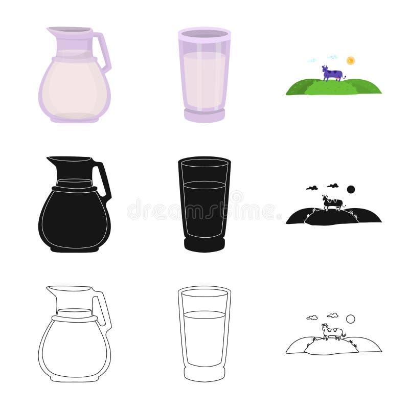 乳脂状和产品标志被隔绝的对象  r 向量例证