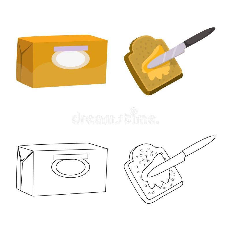 乳脂状和产品标志被隔绝的对象  r 皇族释放例证