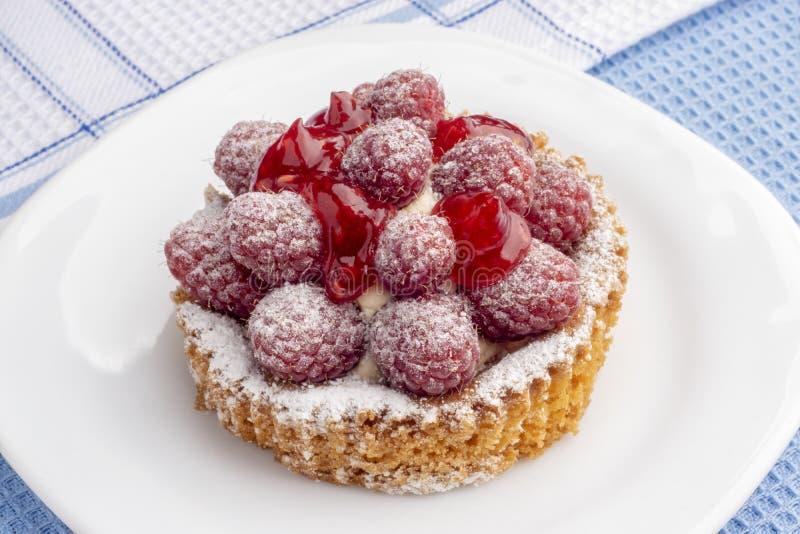 乳脂状的果仁巧克力和莓莓果 免版税图库摄影
