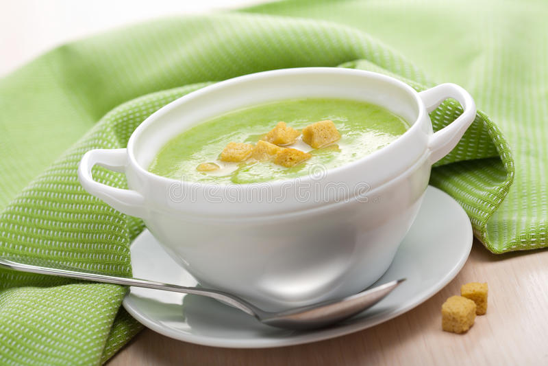 乳脂状的汤蔬菜 图库摄影