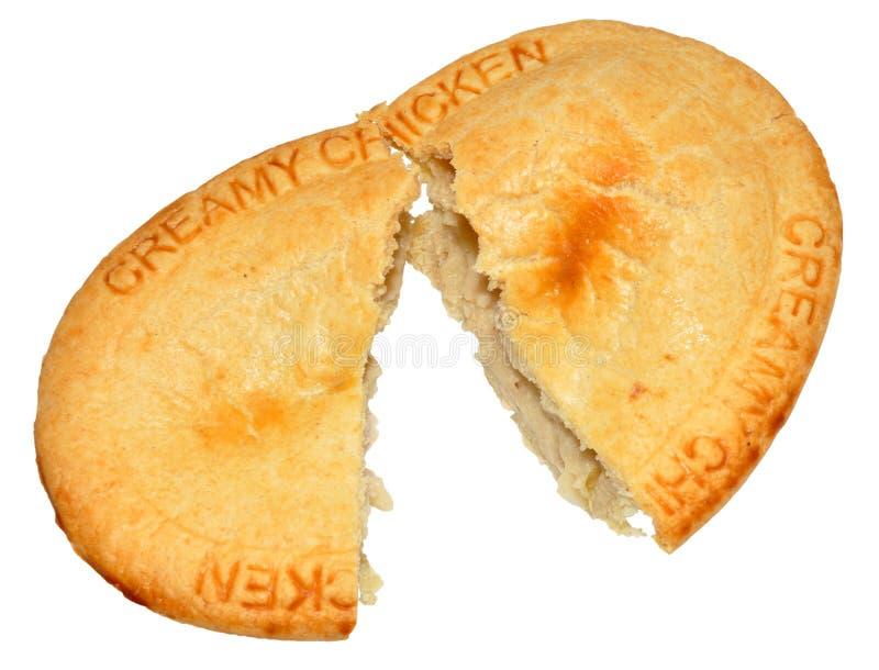 乳脂状的鸡饼 库存照片