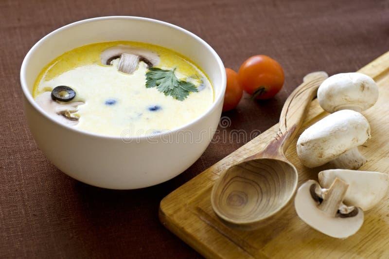 乳脂状的soupe 库存图片